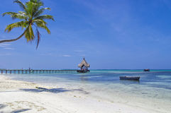 Les Maldives - lagune tropicale ensoleillée Image libre de droits