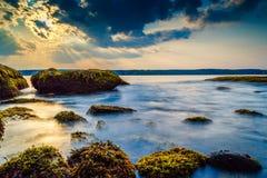 Les marées douces de l'océan Photo stock