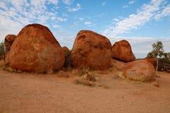 Les marbres du diable en Australie Photos libres de droits