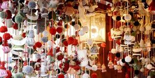 Les marchés photo, Noël de Noël lance l'image sur le marché, Noël lance le visionnement sur le marché images libres de droits