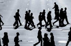 Les marcheurs en travers #2 Image libre de droits