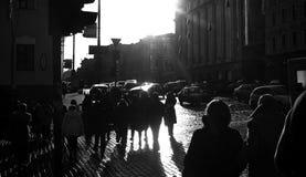 Les marcheurs en travers Photos libres de droits