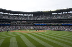 Les Mariners de Seattle contre le jeu de baseball 2015 d'anges de La Photo stock