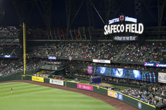 Les Mariners de Seattle contre le jeu de baseball 2015 d'anges de La photographie stock libre de droits