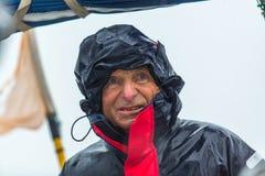 Les marins participent à la régate de navigation le 12ème Ellada Autumn-2014 sur la mer Égée Image stock