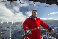 Les marins participent à la régate le 11ème Ellada de navigation Photo stock