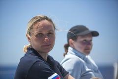 Les marins participent à la régate le 11ème Ellada de navigation Photographie stock