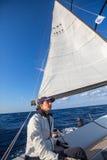 Les marins participent à la régate le 16ème Ellada de navigation Photographie stock libre de droits