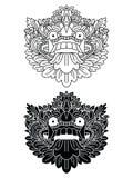Les masques d'un dieu mythologique Style de Balinese Barong Image libre de droits