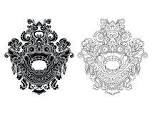 Les masques d'un dieu mythologique Style de Balinese Barong Illustration Libre de Droits