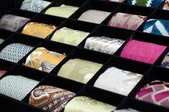 Les matériaux de rideau image stock
