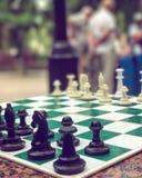 Les matchs d'échecs de Sobornaya Ploschad', ou place de cathédrale au centre d'Odessa, Ukraine Images libres de droits