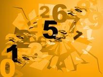 Les maths numérotent des expositions des chiffres et conception numériques Photo stock