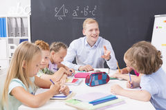 Les maths peuvent être amusement Photos libres de droits