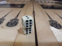 Les matrices de backgammon Image stock