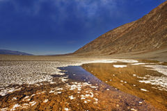 Les mauvaises eaux de Death Valley Photos stock