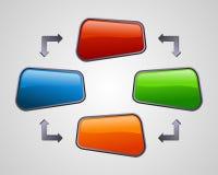 Les medias sociaux lustrés frais diagram la présentation Image stock