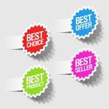 Les meilleures étiquettes bien choisies Photographie stock libre de droits
