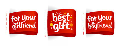 Les meilleures étiquettes de cadeaux. Photographie stock libre de droits