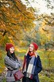 Les meilleures amies dans le jardin Photographie stock libre de droits