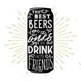 Les meilleures bières sont celles boivent avec des amis illustration stock