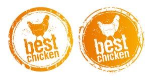 Les meilleures estampilles de poulet. Images stock
