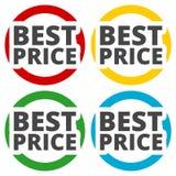Les meilleures icônes des prix réglées Photos stock