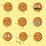 Les meilleurs biscuits mignons Emoji photo stock