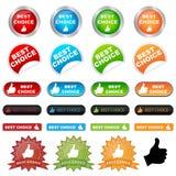 Les meilleurs boutons bien choisis illustration de vecteur