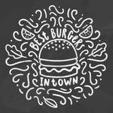 Les meilleurs hamburgers en ville illustration de vecteur