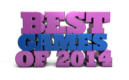 Les meilleurs jeux de 2014 Photos stock