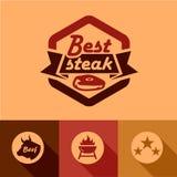Les meilleurs labels de bifteck Photographie stock libre de droits