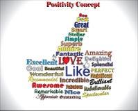 Les meilleurs pouces vers le haut du concept utilisant différents objectifs positifs les plus utilisés Image stock