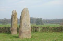 Les Menhirs De Epoigny Fotografie Stock Libere da Diritti
