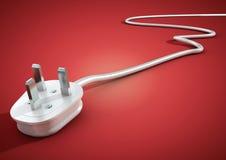 Les mensonges électriques de prise et de câble ont débranché des isolats sur le backgr rose Photo libre de droits