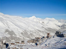 Les Menuires, 3 Valleys ski resort in the Alps Royalty Free Stock Photography