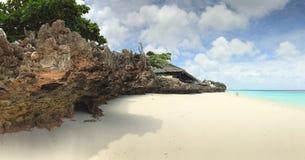 Les mers de corail et bleues de Zanzibar Images stock