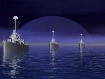 Les mers du sud pendant la guerre mondiale 2. Image stock