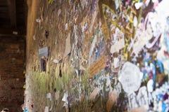 Les messages d'amour souhaite le mur en maison de Juliet, Vérone, Italie Images libres de droits
