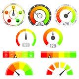 Les mesures dirigent l'ensemble Indicateurs de score de crédit Image libre de droits