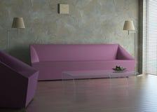 Les meubles dans une chambre Images stock