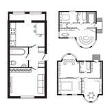 Les meubles de plan architectural de bureau et le dessin d'étude intérieurs modernes de construction projettent Images libres de droits