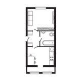 Les meubles de plan architectural de bureau et le dessin d'étude intérieurs modernes de construction projettent Photos libres de droits