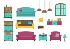 Les meubles ont placé 1 Image stock