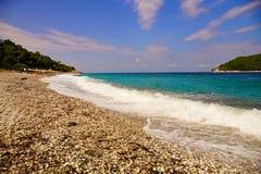 Les Milia échouent, Skopelos images libres de droits