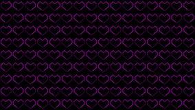Les milieux de coeur font signe des graphiques comportant la boucle animée de formes de jour de Valentine's illustration stock