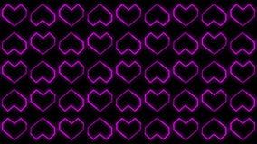 Les milieux de coeur font signe des graphiques comportant le jour de Valentine's ont animé des formes et des particules illustration libre de droits