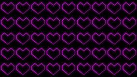 Les milieux de coeur font signe des graphiques comportant le jour de Valentine's ont animé des formes et des particules illustration stock