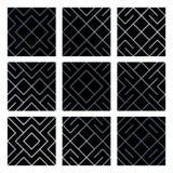Les milieux sans couture géométriques abstraits argentés de tuile de modèle ont placé avec la texture éclatante de maille Modèle  Image libre de droits