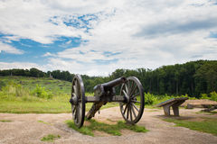 Les militaires de Gettysburg de canon se garent photo libre de droits